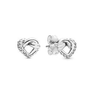 ✨Pandora Knotted Heart Stud Earrings